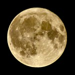 Mycket vacker fullmåne